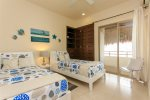 Tulum rentals - Third bedroom with 2 twin beds - Zama Gardens PH Luzera