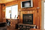 Cozy Gas Fireplace and Flat Screen TV