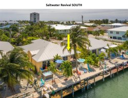 Saltwater Revival, Canal Front Duplex in Key Colony Beach with Deep Water Dockage!