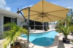 Private Pool With Umbrella Shaded Area