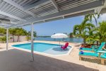 Covered Patio and Backyard Paradise with views of Boot Key Harbor
