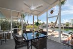 Screen-in Patio with great water views