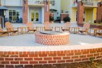Enjoy the Village Plaza with the fire pit, restaurants, spa, and Hudson`s Market