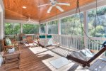 Relax under the cool ceiling fans