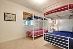 Bedroom 2 - Two Sets of Bunks - 4 Twin Beds - Semi-Private Bathroom