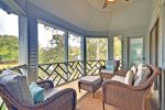 Screened in Porch with Lagoon Views