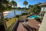 Balcony off Second Floor - Gorgeous View of Pool, Golf Course and Pond
