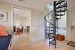 Spiral Staircase Leads to Widow`s Walk