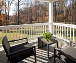 Serene Back Porch with Seating for Eight