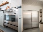 Large Commerical Stainless Steel Oven and Refrigerator