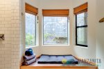 Window seat in master bedroom/bathroom.