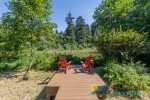Beautiful deck to enjoy coffee in the morning or just a place to relax and watch wildlife.