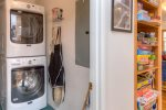 Washer and Dryer with detergents provided.