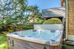 Hot Tub in fully fenced yard