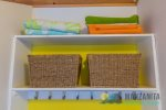 Full bathroom with washer and dryer for guest use. Detergents included.