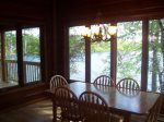Dining room with fabulous view of the lake