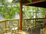 Large deck and ample seating to relax and enjoy the beautiful surroundings