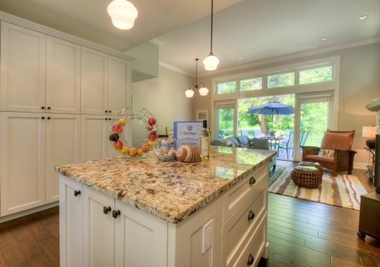 Gourmet Kitchen and Island - Open Concept - Stainless Steel Luxury Appliances