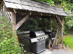 BBQ is under cover for year round grilling