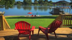 Lagoon On The Llano - Newly Remodeled Beachfront Rental with Boat Dock, Double Jet-Ski Lift, Water Trampoline