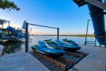 Guests have access to one boat lift and double jet-ski lift boat and jet-skis not included