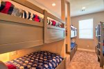 Fifth Bedroom: Three Built In Twin Bunk Beds