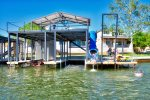 One Heavy-Duty Double Cable Boat Lift Available up to 8,500 lbs, including v-drive wake board boats, Double Jet-Ski Lift