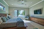 Master Bedroom: King Size Bed, 55 Directv, lake view