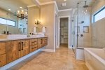 Master Bathroom: Walk-In Shower, Garden Tub, Double Vanity, Closet