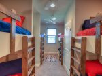5 Bedroom: Four Built In Twin Bunk Beds