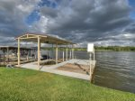 Covered Boat Dock With Lift And Double Jet Ski Ramp