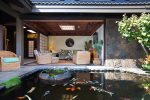 TV Room adjacent to Koi Pond