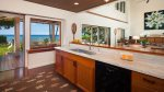 Kitchen. Marble counter tops, ocean view - Wolf Range - fun place to cook
