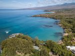 Aerial view of Wailea Bay and Kohala Coast