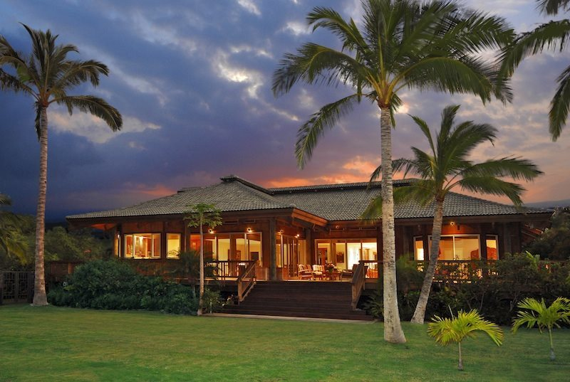 Puako Sandy Beach Villa 4 Br Private Luxurious Hawaiian Style Living