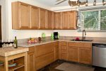 Ample counter space and cabinets.