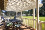 Deck with views of the 5th Fairway at Plumas Pines Golf Resort