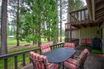 Back deck, has a gas grill and seating for 6
