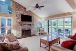 Fabulous and warm living room of this 4 bedroom town home