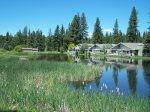 The gorgeous pond at Plumas Pines Golf Resort