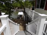 Stair access to lower patio and dock