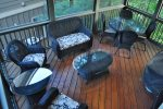 Main Level Screened Porch and nice Furniture