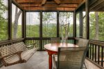 King Bedroom Private Screened Porch that overlooks lake