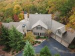 Ariel View of Grayson Manor Rental home in Big Canoe