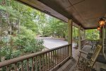Front Porch of Rabbit Run Rental home