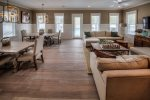 Seagrove Beach - Living room and Dining room leading to the pool