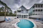 Seagrove Beach - Pool area with lots of lounging, gas grill and fire pit