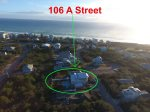 30A Aerial view of 106 A Street in Seacrest Beach