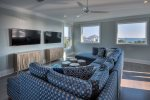 Best 30A Game Room  Media Room Hands Down on 30A, Dual TVs, Arcade, Foosball, Full Bar adjoining Top Floor Gulf View Party Deck