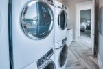 The UBH Laundry Mat with 3 full sets of HE Washer Dryers.  Simply send the laundry down the Elevator which services all 3 levels